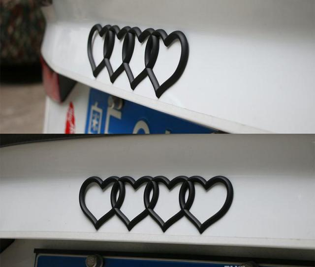 For Audi Heart Love Trunk Badge Emblem Car Logo Rear Decal Sticker Replacement For Audi A