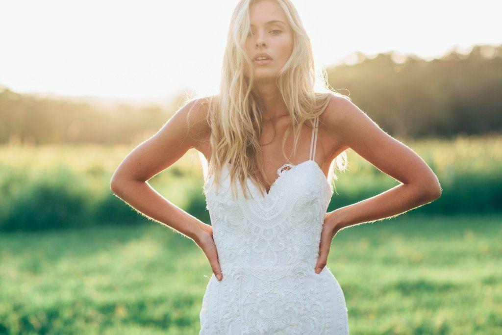 Discount Sexy Spaghetti Straps Bohemian Wedding Dresses