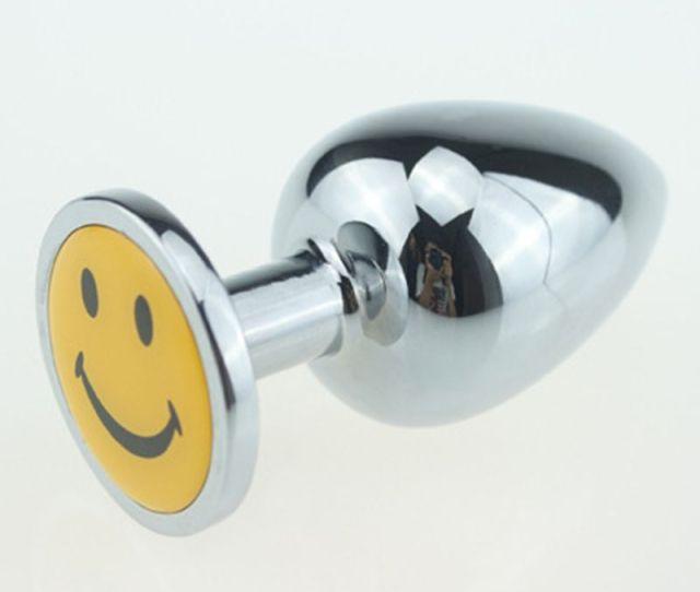 Hot Aluminum Butt Plug Metal Anal Hook Ball Toy Fisting Toys Jeweled Bondage Gear Metal Sex