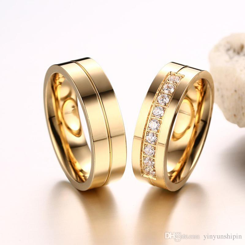 2018 2017 New Style Couple Trendy Wedding Bands Rings For