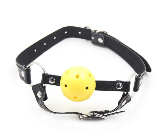 New Open Mouth Bondage Yellow Silica Gel Ball Gag Passion Flirting Bdsm Mouth Gags Sex