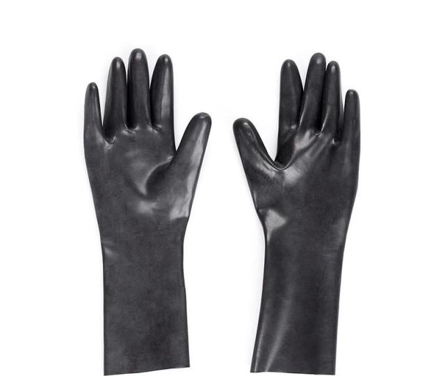 Adult Games Latex Gloves Sex Fetish Slim Finger Style Mitten Seamlessly Style Unisex Natural Rubber Gloves