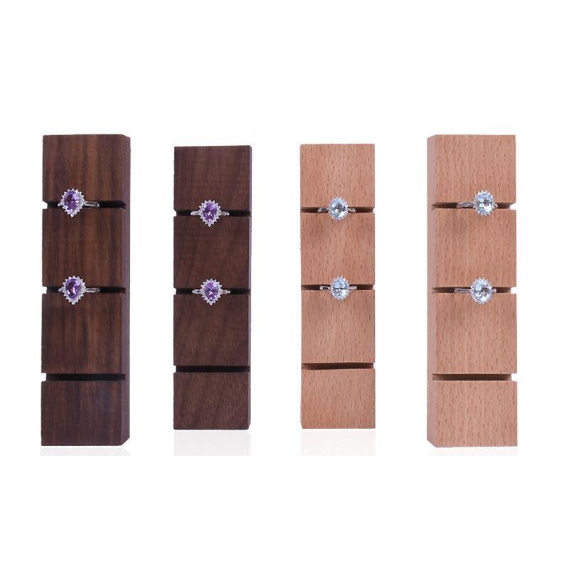 acheter bois brut anneau organisateur noyer hetre bijoux anneaux affichage porte support pour boutique boutique comptoir vitrine etagere salon