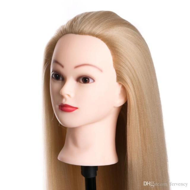 80cm hair synthetic female mannequin head hairstyles hairdressing styling training headhead for hairdressers dolls