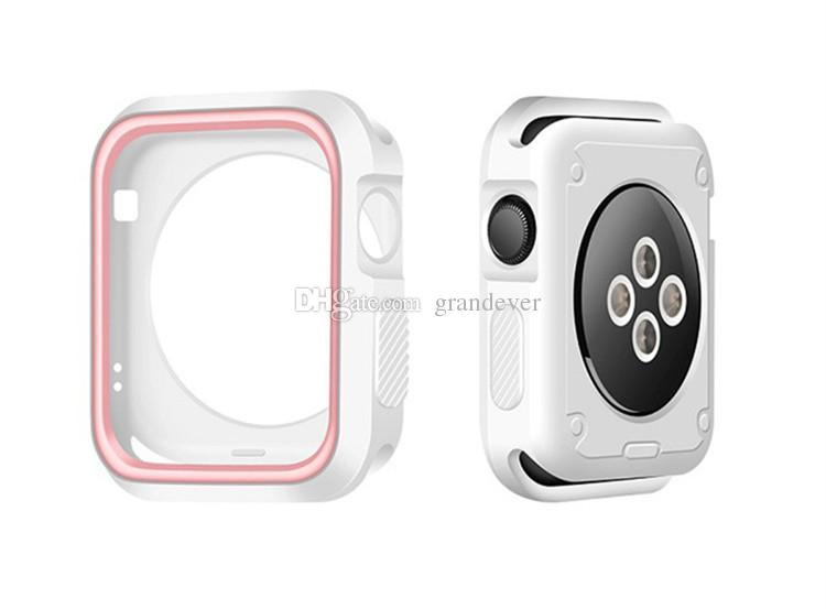 Sports Nk Watch Silicone Case For Apple Watch Contact Color Soft         Sports NK Watch Silicone Case For Apple Watch Contact Color Soft  Protector Protective Cases Cover for