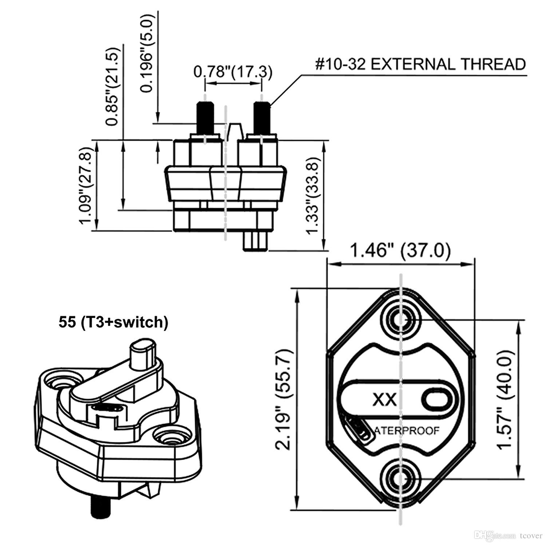 Circuit breaker auto car fuse holder 40 circuit breaker trolling