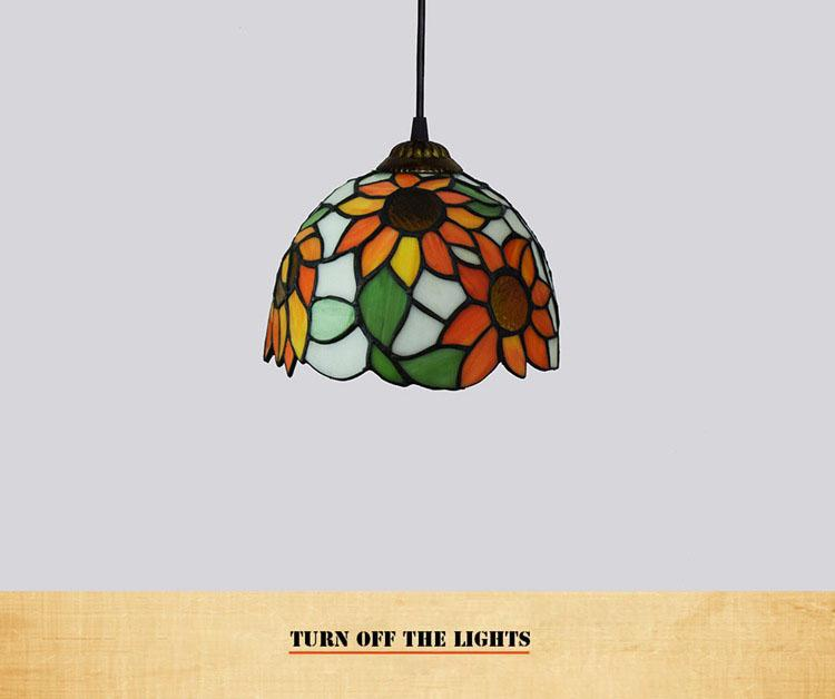 Tiffany Style Lights Ceiling Pendant Stained Glass Shade Cafe Store Stairs Balcony Dingningroom Livingroom Hanging Lamp Flower Sun Flower Exterior Pendant Light Lamp Pendant From Honyartglass2 144 73 Dhgate Com