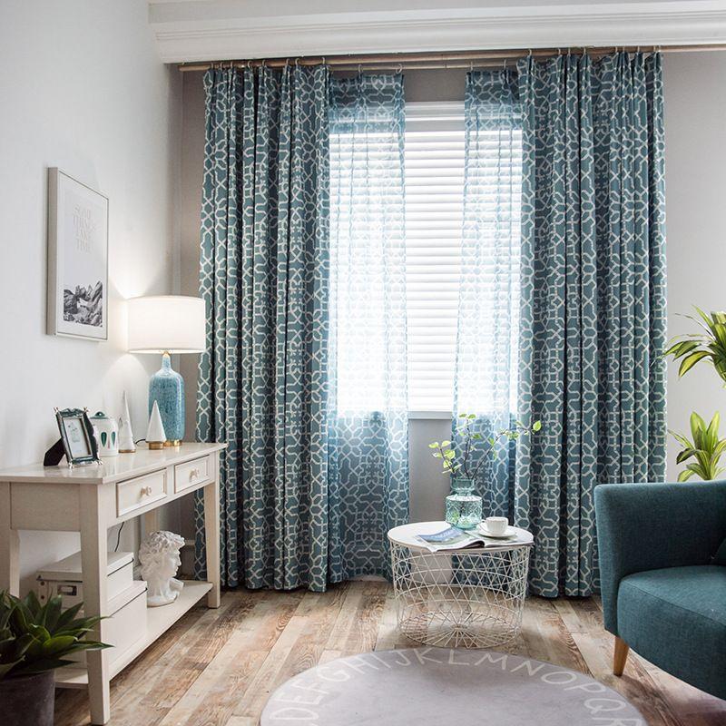 acheter rideau doccultation pour la salle a manger nordique chambre geometrique chambre cuisine impression fenetre rideaux doccultation ready made