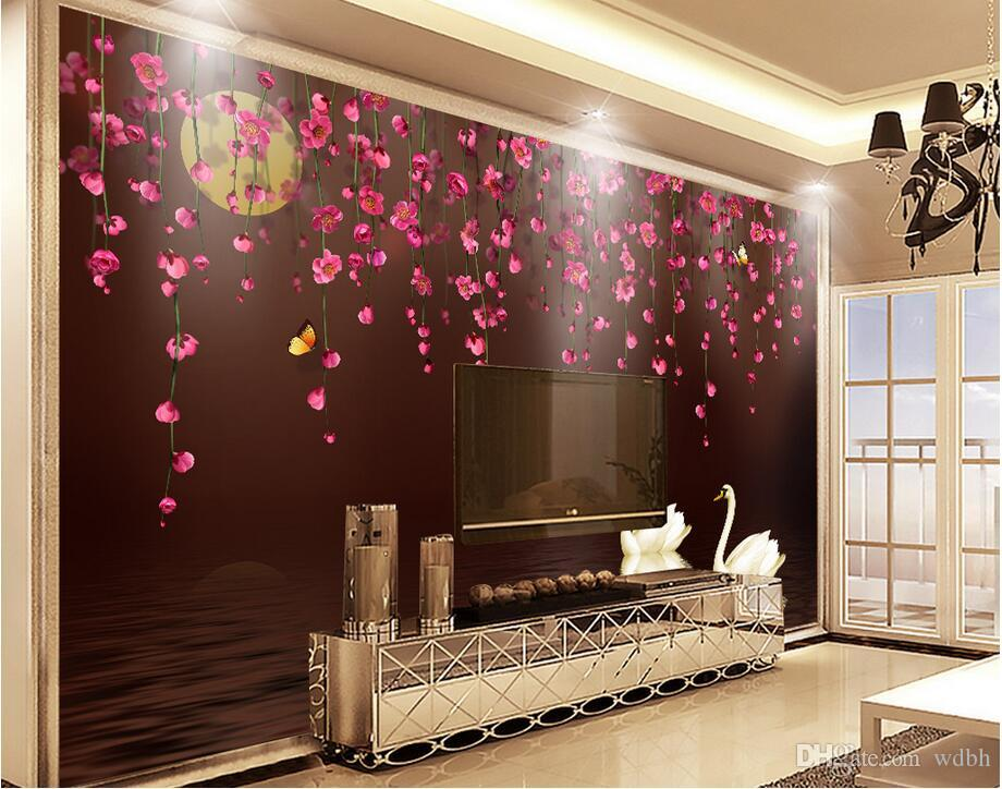 Wdbh 3d Wallpaper Custom Photo Mural Romantic Rose Love Flower Tv Background Wall Room Home Decor 3d Wall Muals Wall Paper For Walls 3 D From Wdbh 24 88 Dhgate Com