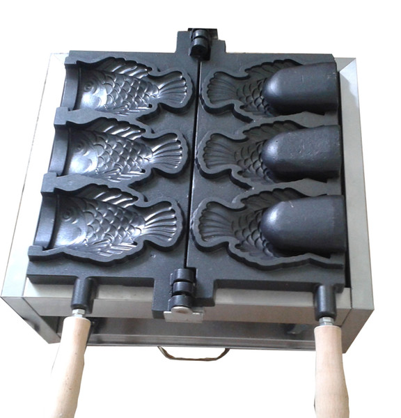 Commercial use Ice cream Taiyaki maker fish cone waffle machine Buy machine get 6 gifts