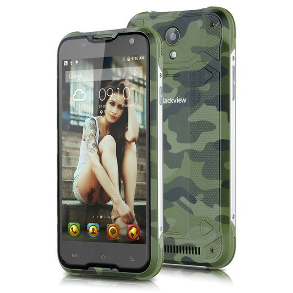 Original Blackview BV5000 Android 5.1 Waterproof+Shockproof+Dustproof 4G SmartPhone 5.0'' MTK6735P Quad Core 2GB RAM 16GB ROM