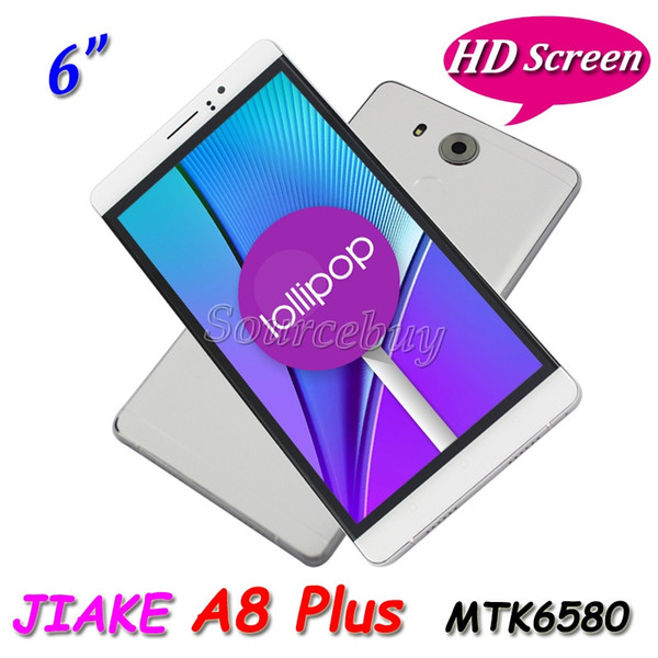 3G Unlocked JIAKE A8 Plus Android 5.1 MTK6580 Quad Core 6 Inch Smartphone Dual SIM 1GB 8GB 1280*720 Gesture Cell phone Case