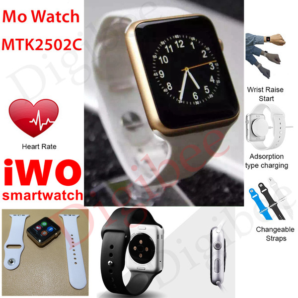 New MTK2502C Bluetooth Smart Watch IWO Smartwatch MO Watch Heart Rate Sleep Tracker for IOS Android Smartphone relogio inteligente reloj