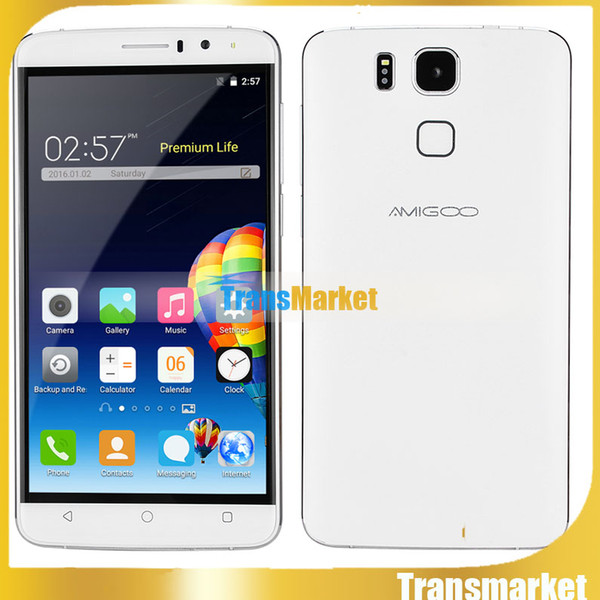 Original AMIGOO X10 MTK6580 Quad Core Cell Phone 6.0 Inch Android 5.1 Smartphone 512MB RAM 8GB ROM Dual Cameras GPS Mobile Phone