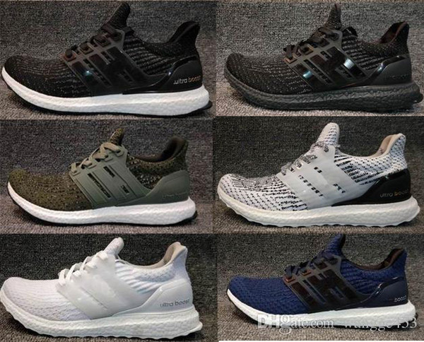 High Quality UltraBoost 3.0 4.0 shoes Triple Black white Men's Women's Running Sport Ultra Boost 3.0 shoes breathable sneaker US5-12