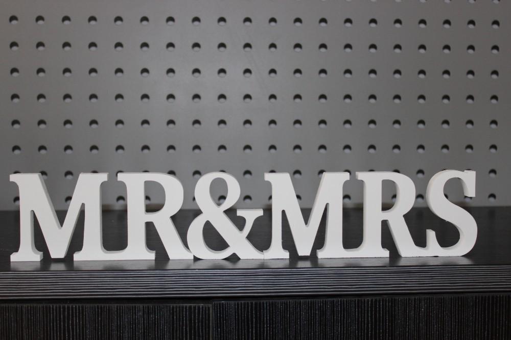 Mr & Mrs Sign, Wedding Decor, Newly Weds, Reception Height