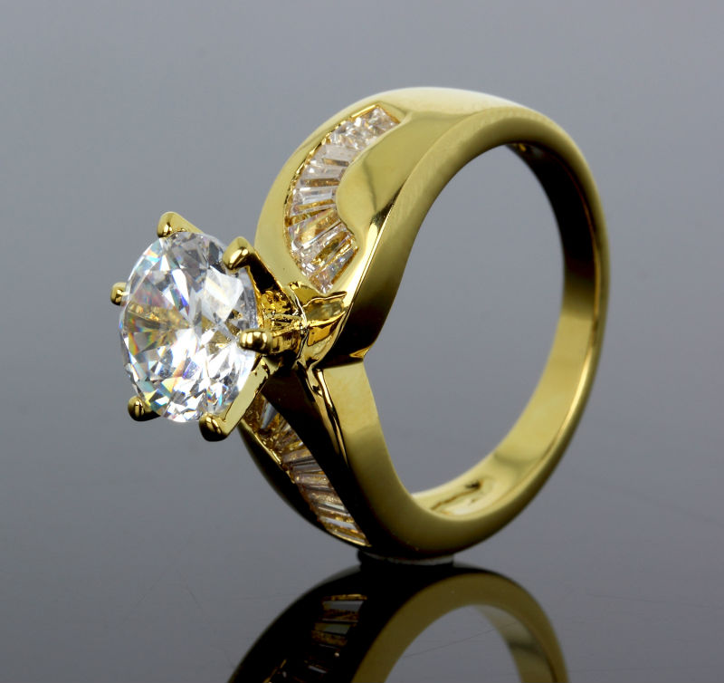 2018 Wedding Rings Womens Unique Jewelry 18k Gold Plated