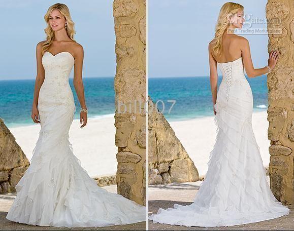 Wholesale Ella Wedding Dresses Beach Trumpet Mermaid