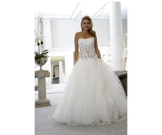 2014 Custom Made Sexy Pnina Tornai Bridal Gown Brush Train