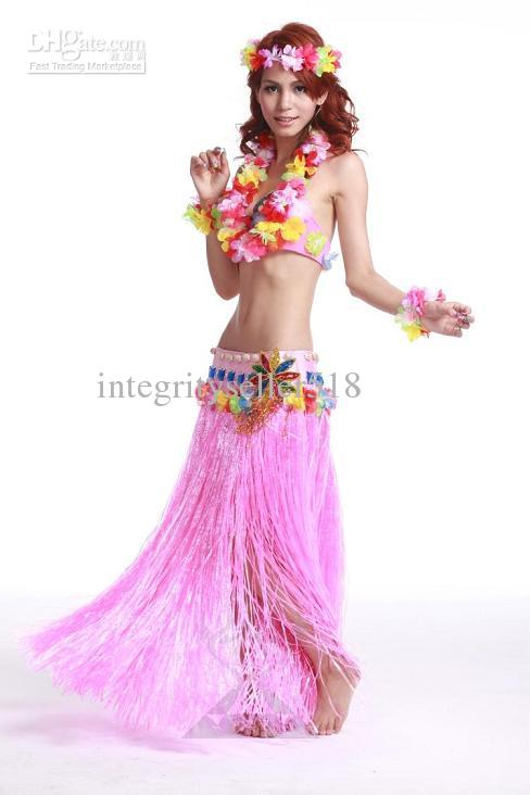 2019 Hawaiian Hula Costumes Belly Dance Performances Set