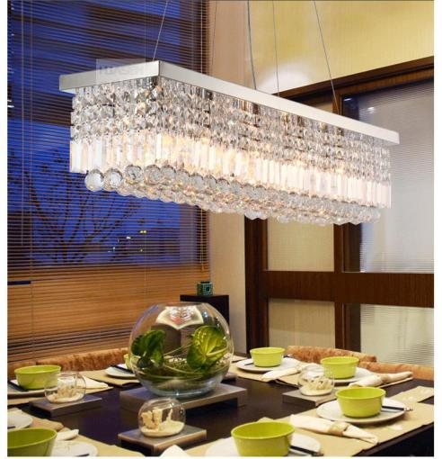 Oblong Crystal Light Crystal Lamp Crystal Pendant Lamp Crystal     The light includes light source