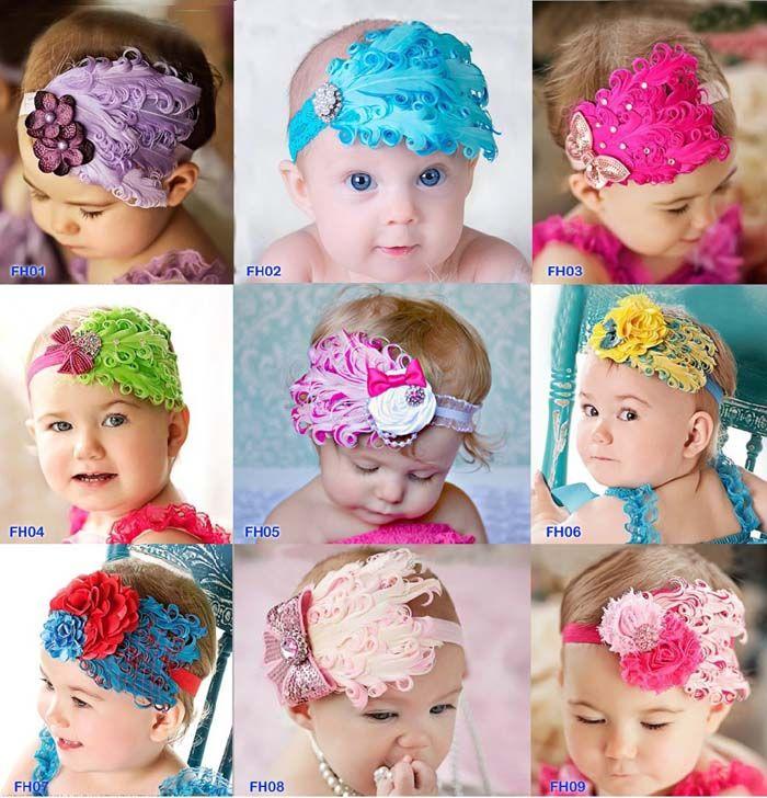 fashion baby hair accessories baby girls headbands hair flowers kids hair bands girls hair feathers baby girl hair accessories flower girl hair accessories