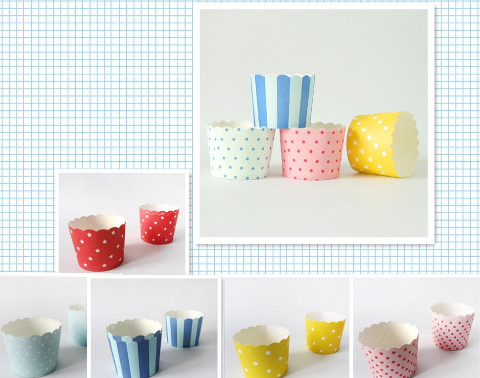 2019 Round Bucket Paper Cake Cups, MUFFIN CUPCAKE CASES