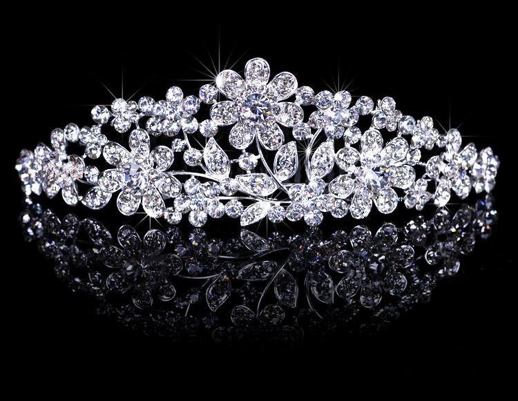 Shiny Rhinestones Princess Crown Tiaras Bridal Headband