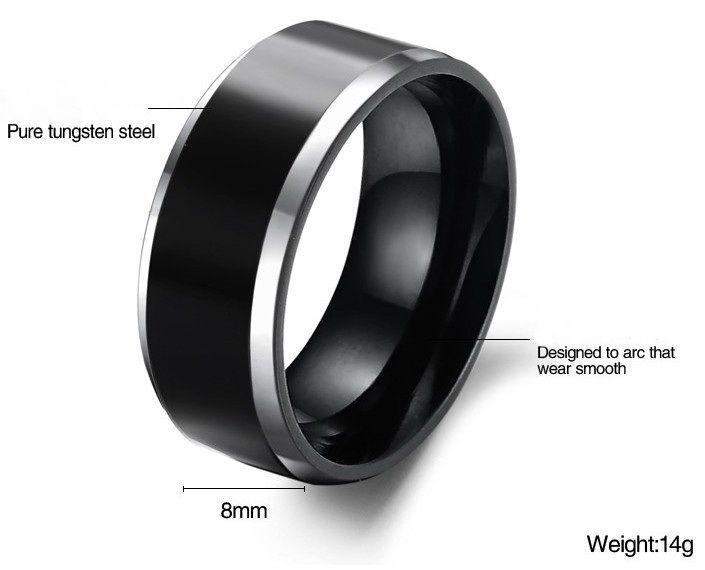 Beautiful Black Mens Tungsten RingMens RingsFor