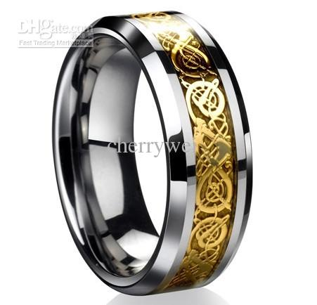 Dragontungsten Carbide Celtic Ring Mens Jewelry Tungsten