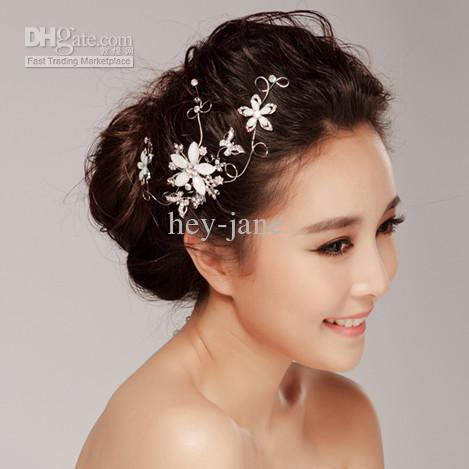 Wedding Bridal Floral Wedding Bridal Hair Clip Hair