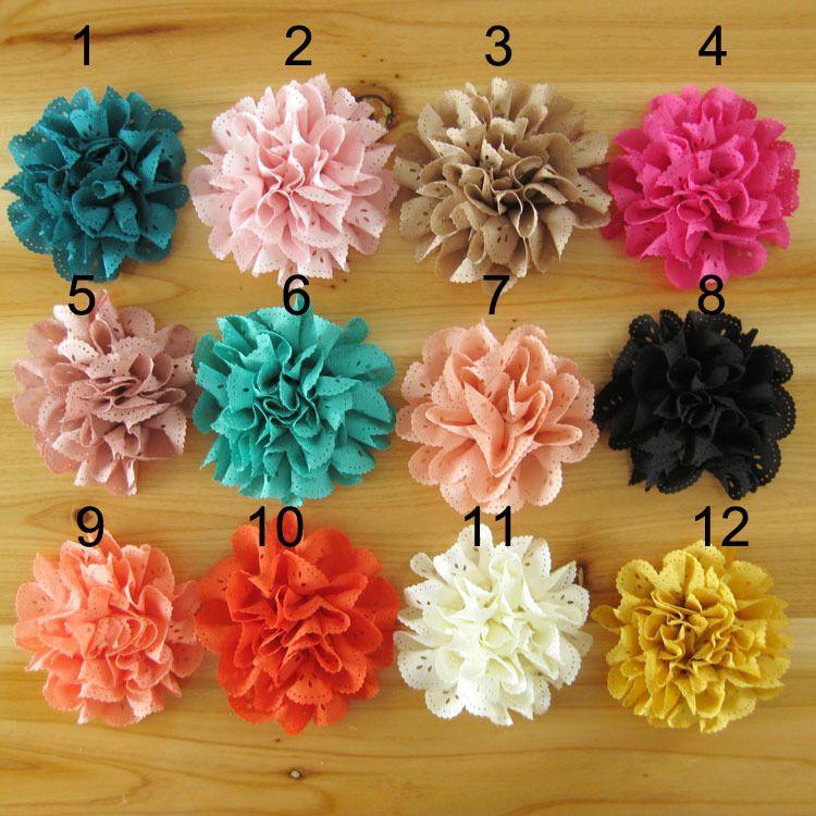 3inch DIY Fabric Flowers For Headband Baby Girls Hair