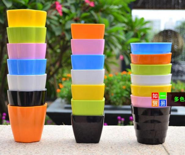 High Quality Plastic Planters Balcony Gardening Mini Candy Colored     High Quality Plastic Planters Balcony Gardening Mini Candy Colored Pots for  Home Decoration Online with  4 28 Piece on Jackylucy s Store   DHgate com