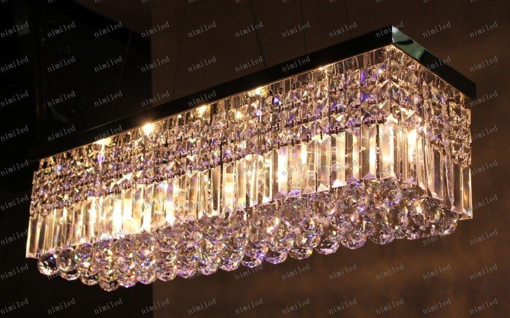 LLFA98 K9 LED Crystal Chandelier Rectangle Led Lamps