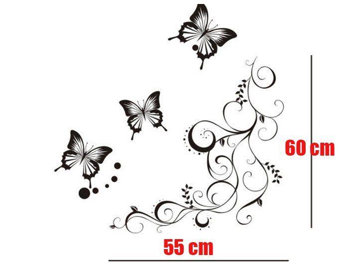 !!DIY Black Butterfly Decorative Interior Decor Decal Wall