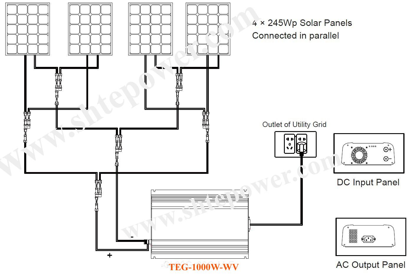 Wiring Diagram Solar Power System