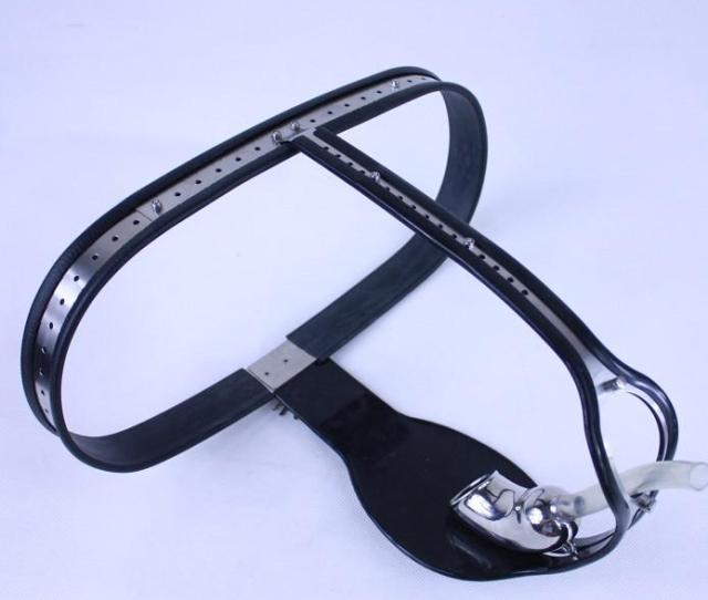Male Fully Adjustable Model T Stainless Steel Chastity Belt With Plastic Catheter Other Stlye