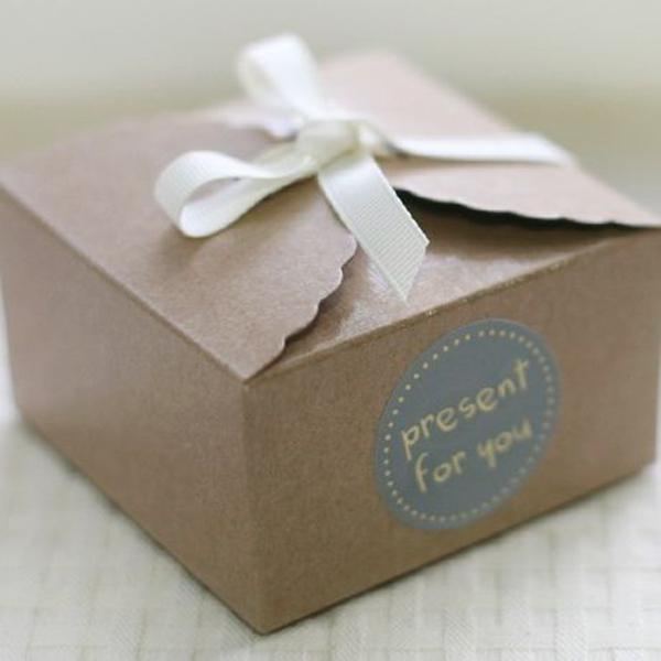 Kraft Brown Paper Scalloped Small Box Wedding Party Favor