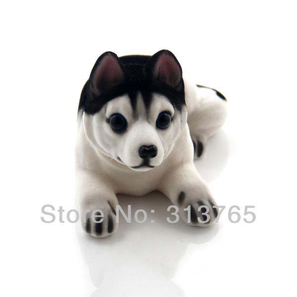 New Cute Husky Bobblehead Dog Doll Car Nodding Dog Shakes