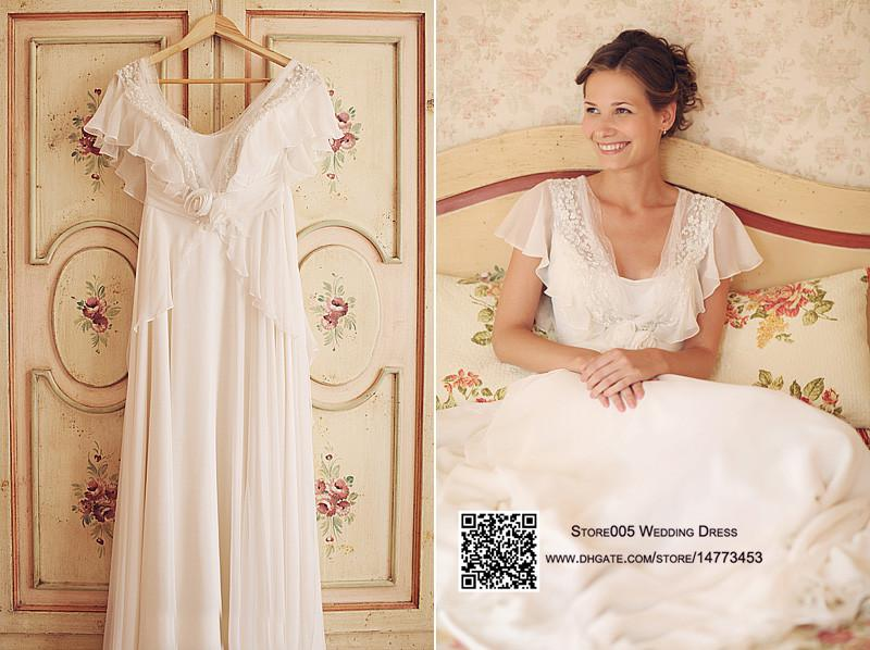 Discount 2015 Cheap Plus Size Chiffon Country Wedding