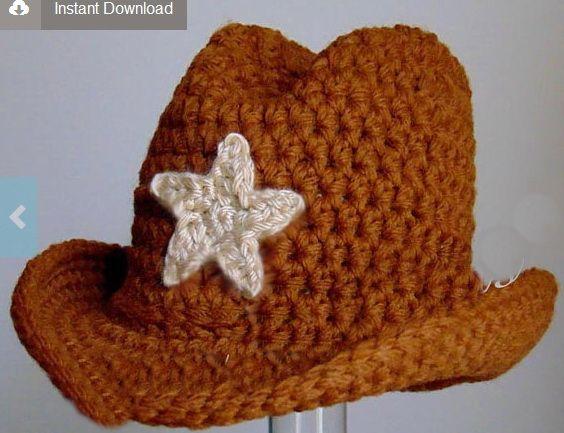 cowboy hat crochet sombrero vaquero pattern # 28