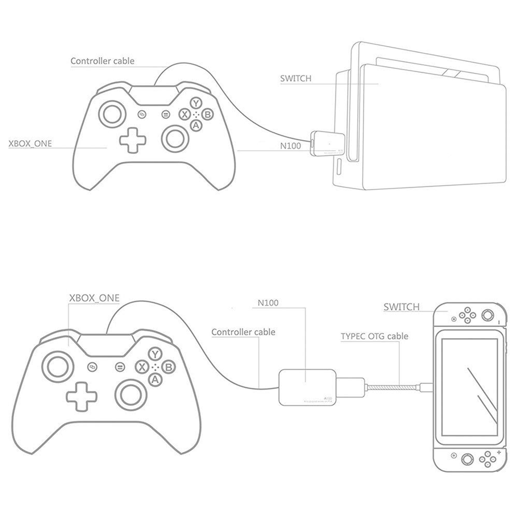 N100 For Ps3 Ps4 Xbox One Xbox 360 Usb Controller