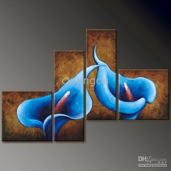 Wholesale Handicraft Modern Abstract Huge Art Flower Oil Painting On Canvas #37