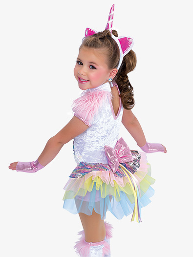 Last Unicorn Sequin Shorty Unitard Character Costume Set A Wish Come True AWCT2001C
