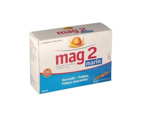 mag 2 magnesium marin boite de 30 ampoules