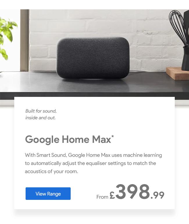 Google Home Max Speaker