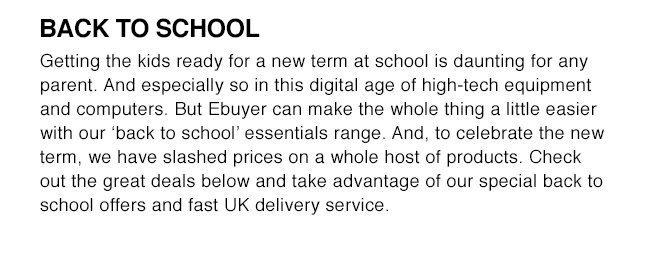 Back To School with Ebuyer.com