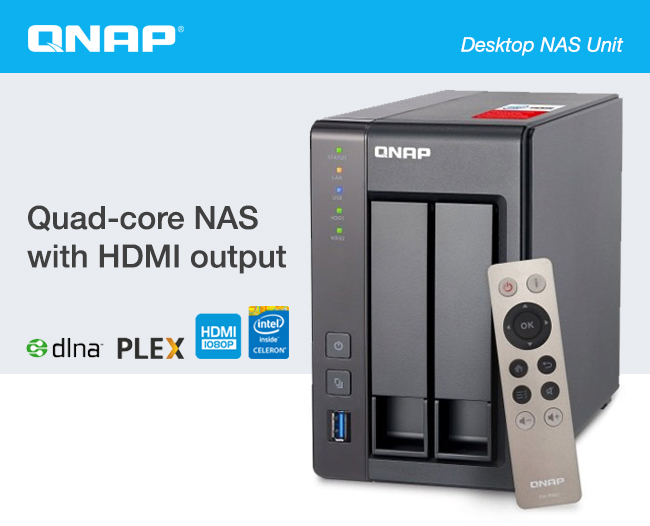 QNAP Desktop NAS Unit