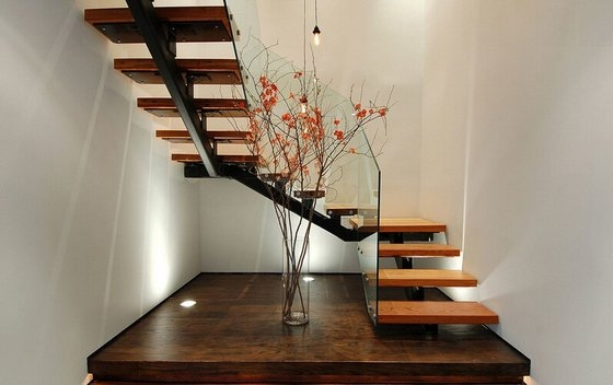 Modern Wood Staircase With Glass Railing Id 10472385 Buy | Modern Wood Staircase Railing | Interior | Stylish | Wall Mounted | Contemporary | House