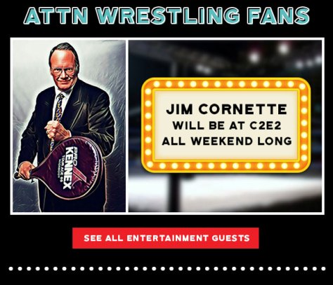 Jim Cornette will be at C2E2 all weekend long.